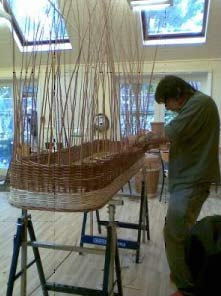 Weaving an eco-coffin at WinterWillow
